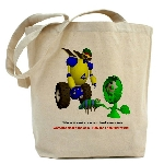 100% cotton Tote bag with robot on it
