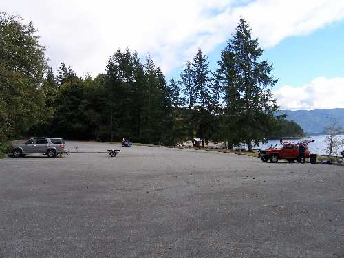 Saltery Bay Boat Launch Parking Lot